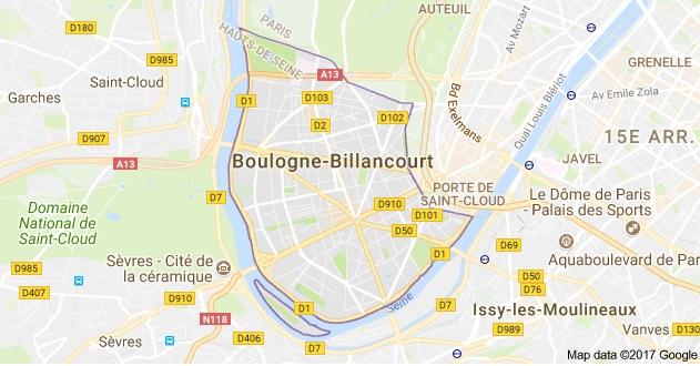 Boulogne Billancourt et communes environnantes