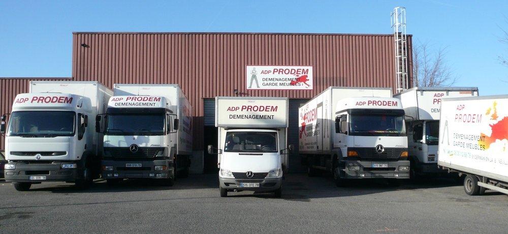 camions déménagement