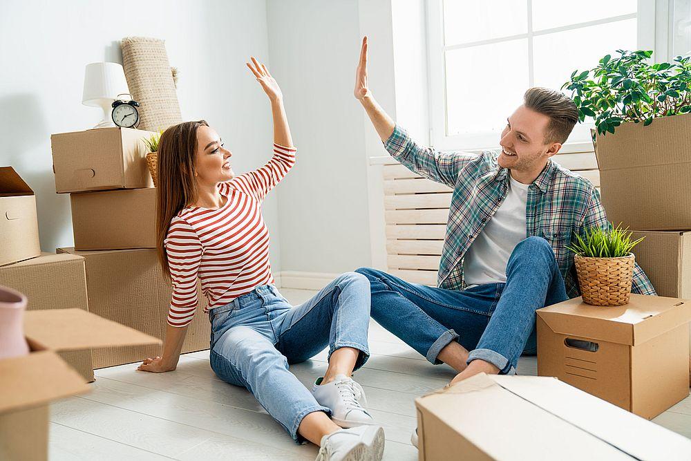 déménagement abouti couple